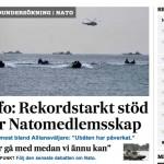 40 procent säger ja till Natomedlemskap i ny Sifo